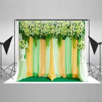 Kate7ft(W) x5ft(H) Flower Curtain Wedding Backdrops Floral Bridal Shower Backdrops Curtain Birthday Party Photo Background for Photography Fabric Props Free Wrinkles