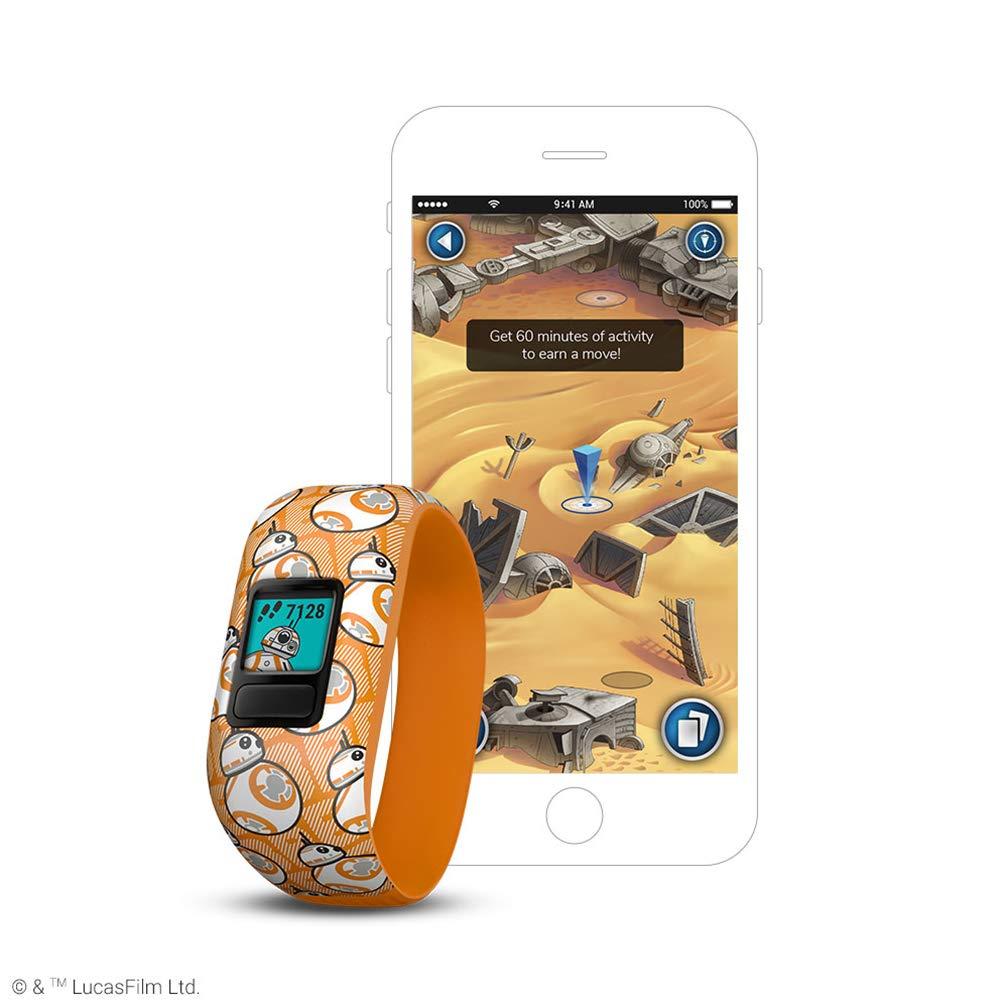 Garmin vívofit Jr 2, Kids Fitness/Activity Tracker, 1-Year Battery Life, Stretchy Band, Star Wars BB-8