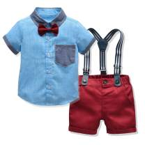 Tem Doger Toddler Baby Boy Shorts Sets Clothes Short Sleeves Shirt+Pants Clothing Outfits 6 Months - 5 Years