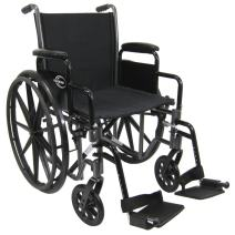 "Karman Light Weight Wheelchair with Elevating Legrests in 18"" Seat and Removable Footrests"