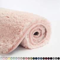 Suchtale Bathroom Rug Non Slip Bath Mat for Bathroom (16 x 24, Blush) Water Absorbent Soft Microfiber Shaggy Bathroom Mat Machine Washable Bath Rug for Bathroom Thick Plush Rugs for Shower