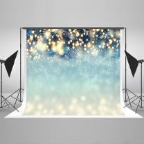 Kate 10×6.5ft Bokeh Dots with Snowflakes Photo Backdrops Christmas Blue Glitter Background Winter Backdrops for Photography Fabric Cotton Cloth Seamless Props