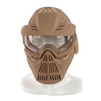YASHALY Airsoft Mask, Adjustable Full Face Army Military Tactical Gear with Goggle Eye Protection for Paintball CS Game BB Gun and Party