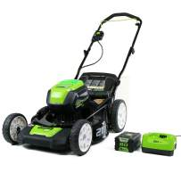 Greenworks 2501202 Pro 21-Inch Cordless Push Lawn Mower, includes 4Ah Battery and Charger