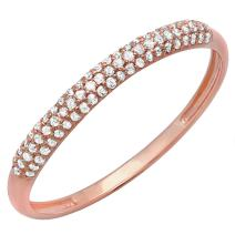 0.16 Carat (ctw) 14K Gold Round White Diamond Ladies Bridal Anniversary Wedding Band Stackable Ring