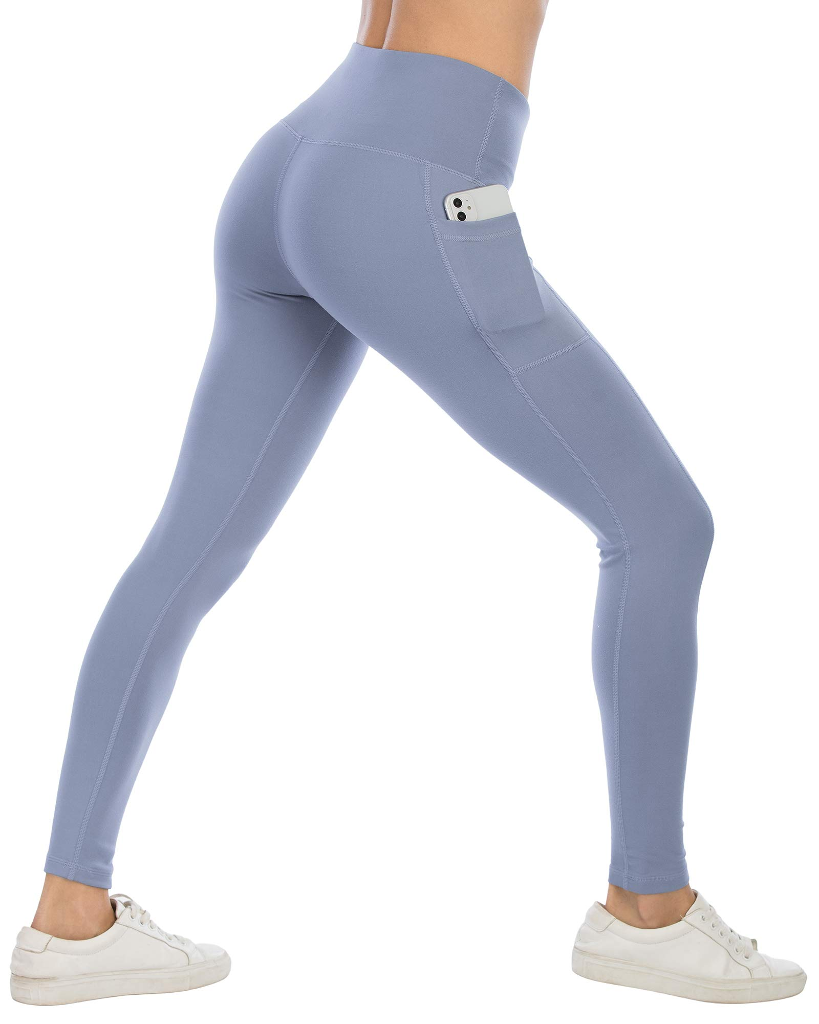 ATHVOTAR Yoga Pants with Pockets for Women, High Waisted Workout Leggings with Pockets