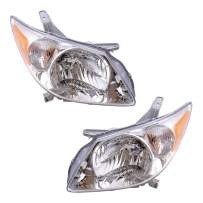 Replacement Driver and Passenger Set Halogen Headlights Compatible with 2005-2008 Vibe