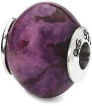 925 Sterling Silver Charm For Bracelet Purple Magnesite Stone Bead From The Earth Fine Jewelry For Women Gifts For Her