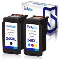 Sellyaha Remanufactured Ink Cartridge Replacement for Canon PG-245XL CL-246XL for Canon PIXMA IP2820 MG2420 MG2520 MG2522 MG2525 MG2555 MG2920 MG2922 MG2924 MG3020 MX490 MX492,1 Black 1 Tri-Color