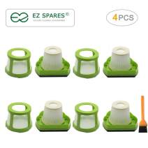 EZ SPARES 4pcs Replacements for Bisel,1782 Filter Hepa,Pet Hair Eraser Cordless Hand and Car Vacuum Attachment,Part #1608653(4Filters + 4Mesh Frame)
