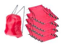 SE All-Purpose Red Drawstring Backpacks (20-Pack) - BG-212DSB-RR-20