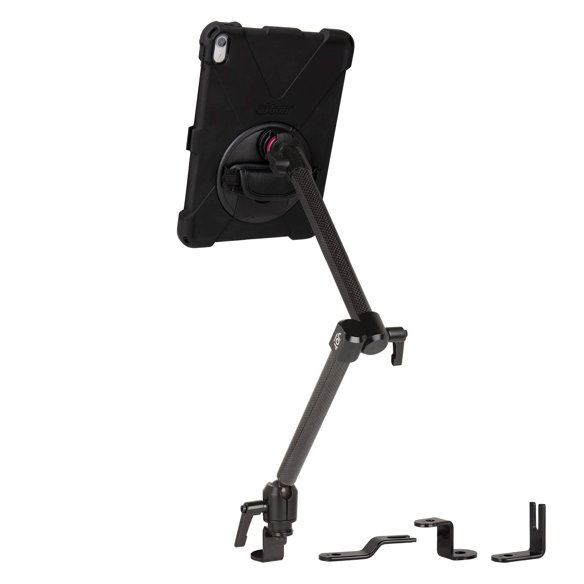 """The Joy Factory MagConnect Carbon Fiber Car/Truck Seat Bolt Mount w/aXtion Bold MP Water-Resistant Rugged Shockproof Case iPad Pro 11"""", Built-in Screen Protector, Hand Strap (MWA7205MP)"""
