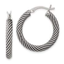 925 Sterling Silver Twist Hoop Earrings Ear Hoops Set Fine Jewelry For Women Gifts For Her