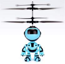 Hand Operated Drone, Flying Toys with Rechargeable Mini Infrared Induction Drone,Flying Drone Kids Toys for 4, 5, 6, 7, 8, 9, 10, 11, 12 Year Old Boys or Girls Gifts (Blue/Robot)