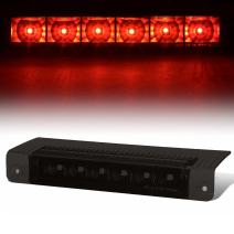 High Mount Tinted Housing Red LED 3rd Third Tail Brake Light Replacement for Chevy Express/GMC Savana 03-17