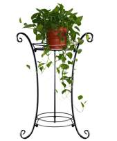 AISHN Classic Tall Plant Stand Art Flower Pot Holder Rack Planter Supports Garden & Home Decorative Pots Containers Stand (Black)