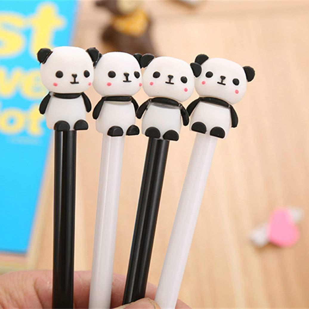 WIN-MARKET Animal Cute Panda Gel Ink Pen Cute Kawaii Black Writing Pens Ballpoint Black Ink Gel Pen Party Gift Gel Ink Pens Funny School Stationery Office Supplies(8PCS)
