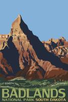 Badlands National Park, South Dakota 33034 (12x18 SIGNED Print Master Art Print - Wall Decor Poster)