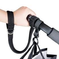 Baby Stroller Pram Wheelchair Safety Wrist Strap or Short Leash for Dog with Stroller Hook (Black)