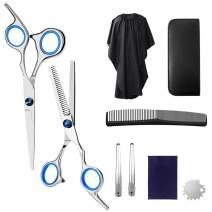 Professional Hair Cutting Scissors Set Stainless Steel Hair Cutting Shears Kit, Hair Cutting Scissors for Home Shear Kit, Salon, Barber (8 PCS)