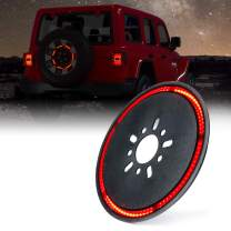 """Xprite 14"""" Spare Tire LED Brake Light Third Rear Wheel Lights Tail Lamp for 2018-2020 Jeep Wrangler JL - Cyclone Series"""