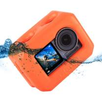 ULANZI OSMO Action Floaty Housing Case for DJI Osmo Action Camera Swimming Diving Snorkeling Water Sports Floating Buoy Surfing Cover Protection Accessories OA-4 Orange Color