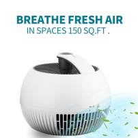HYD-Parts Air Purifier for Smokers Allergies and Pets Hair,True HEPA Filter for Home, Car or Office, Quiet 3 Speed Settings