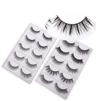 Miss Kiss Brand 10 Pairs Different Style 3D Faux Mink Eye lashes Long Thick Volume Dramatic Wispy Look Fake Eyelashes Strips Soft Fiber Reusable Handmade False Lashes 2PCS Free Tool (10 Pairs 001)