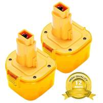 2 Pack 3600Ah Ni-MH for Dewalt 9.6 Volt Battery DW9062 Dw9061 DW926 DC750KA DW955K DW955 DW926K-2 DW926K DW902 DW050 DE9062 DE9061 DE9036 DW955K-2 DW050K