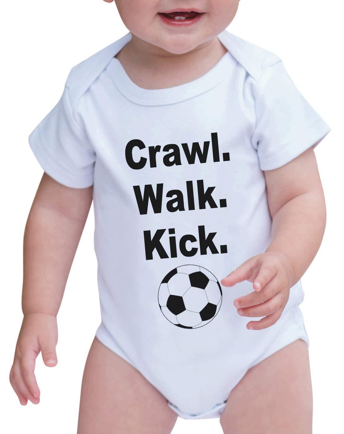 7 ate 9 Apparel Baby Boy's Crawl. Walk. Kick. Onepiece