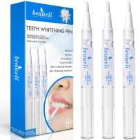 Beaueli Teeth Whitening Pen, 3 Pack, 35% Carbamide Peroxide, Natural Mint Flavor, Glycerin Drops, Safe, Easy to Use, Effective, Painless, Travel Friendly, No Sensitivity, Beautiful White Smile