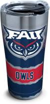 Tervis 1298662 Fau Owls Knockout Insulated Tumbler with Clear and Black Hammer Lid, 20 oz Stainless Steel, Silver