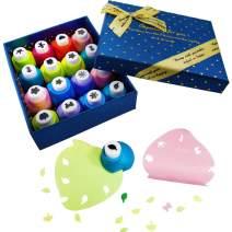 IZTOSS Scrapbooking Paper Punch Set, Decoration Gift Box Punch Craft Set,16 Pack Hole Punch Shapes(Blue)