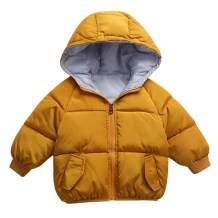Happy Cherry Toddler Hoodie Down Jacket Printed Puffer Coat Padded Winter Warm Snow Coat