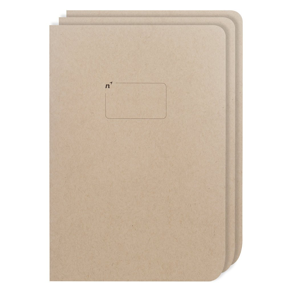 Northbooks USA Eco Blank Journal Large 7x10 Sketch Book   3 Unlined Notebooks with Plain Pages   Premium Recycled Thick Paper   B5