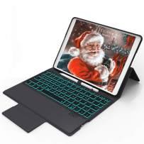 iPad Keyboard Case 9.7 for 2018 iPad(6th Gen), iPad Air 2 and Air 1,2017 iPad(5th Gen), iPad 9.7 Keyboard Case Wireless, iPad Case with Keyboard 7 Color Backlight