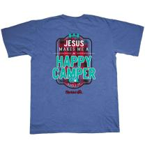 Cherished Girl Women's Happy Camper T-Shirt - Blue -