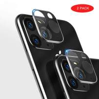 """RANYOK [2-Pack] Compatible iPhone 11 Pro 5.8""""/ iPhone 11 Pro Max 6.5""""/ iPhone 11 6.1"""" Camera Protector, HD Clear Tempered Glass 3D Full Cover Metal Rear Camera Lens Protector (iPhone 11 6.1"""")"""