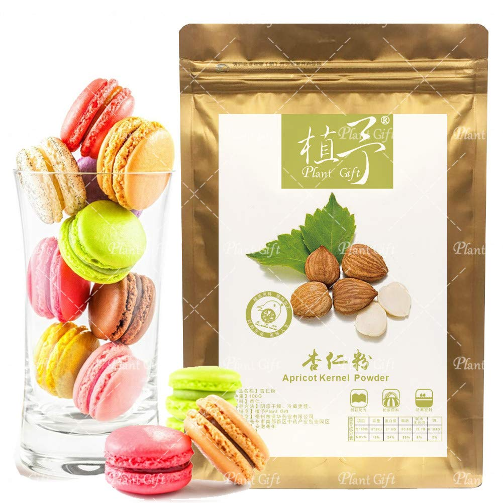 Plant Gift Apricot Kernels Powder, Meal Replacement, Unblanched Almond Flour Organic, 100% Pure Natural Plant Almond Meal, Making Macarons Cookies & Drinks For Breakfast 100G