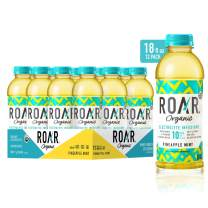 Roar Organic Electrolyte Infusions - USDA Organic - Pineapple Mint - with Antioxidants, B Vitamins, Low-Calorie, Low-Sugar, Low-Carb, Coconut Water Infused Beverage 18 Fl Oz (Pack of 12)