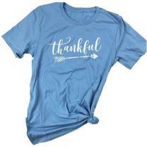 Pxmoda Women's Casual Letters Printed T-Shirt Short Sleeves Faith Over Fear Arrow Tee Tops