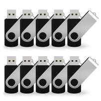 JUANWE 50 Pack 16GB Bulk USB 2.0 Flash Drive Swivel Thumb Drive Jump Drive Memory Stick Pen Drive - Black