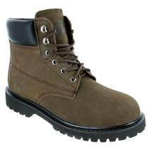 Rugged Blue Original Steel Toe Work Boots - Brown