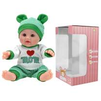 TUSALMO 12 inch Vinyl Newborn Baby Dolls for Children's and Granddaughters Holiday Birthday Gift, Lifelike Reborn Washable Silicone Doll, Reborn Baby Doll.(Green