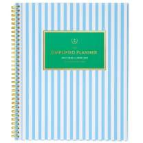 """Academic Planner 2020-2021, Simplified for AT-A-GLANCE Weekly & Monthly Planner, 8-1/2"""" x 11"""", Large, Customizable, Blue Stripe (EL401-901A)"""