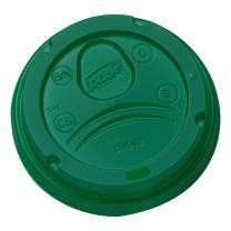 Dixie 10-16 oz. Dome Hot Coffee Cup Lids by GP PRO (Georgia-Pacific), Green, D9542G, 1,000 Count (100 Lids Per Sleeve, 10 Sleeves Per Case)