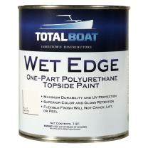 TotalBoat Wet Edge Topside Paint (Flat White, Quart)
