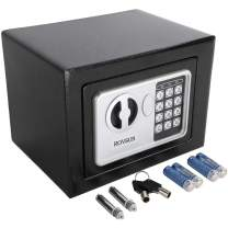 ROVSUN 0.17 CF Electronic Security Safe Box Mini Portable Digital Cabinet with Keypad Lock & Solid Steel, Great for Home Office Hotel Business Cash Jewelry Wallet, Battery Included