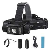 LED Headlamp Flashlights Rechargeable, Brightest 1200 Lumens 5 Lighting Modes Waterproof Lightweight Head Light for Outdoor Camping Cycling Running Fishing