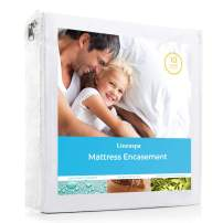 Linenspa Zippered Waterproof, Dust Mite, Bed Bug Proof, Full Size Hypoallergenic Breathable Protector, Mattress Encasement